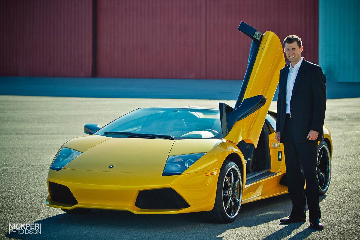 Todd Cavanaugh next to Lamborghini